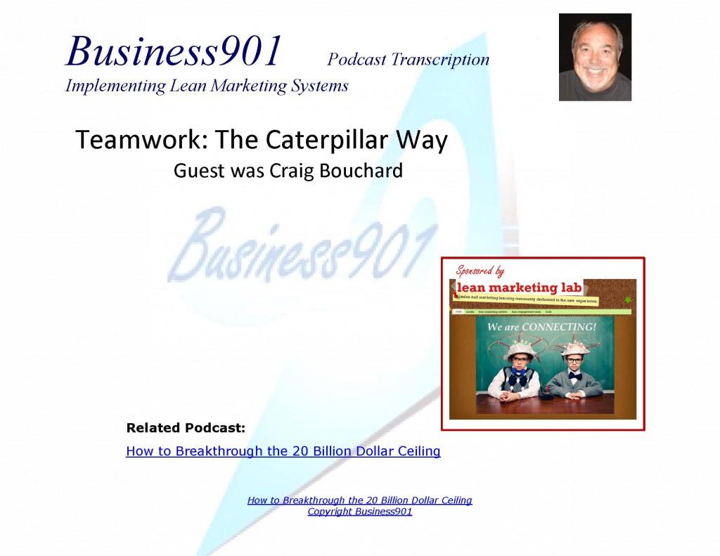 Teamwork The Caterpillar Way