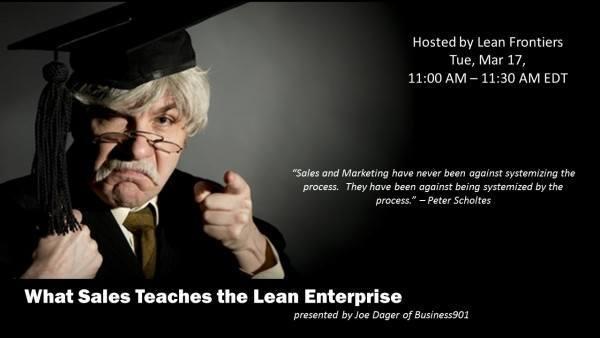 Sales Teaches Lean