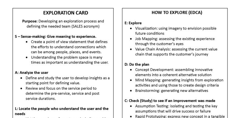 Innovation Card